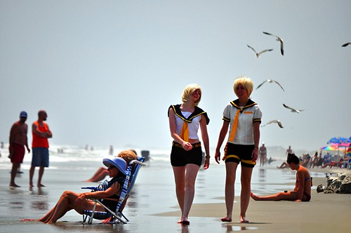 Anime Cosplay at the Beach