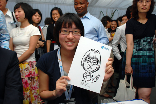 caricature live sketching for Singapore International Water Week Closing Dinner - 6