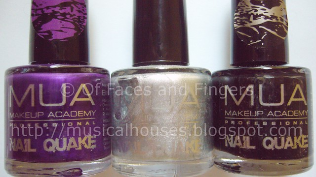 MUA Shatter Polishes