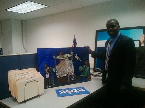 Kouri Marshall and the painting...