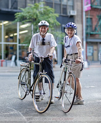 #BikeNYC Portrait: Arnie and Leah (Dmitry Gudkov) Tags: senior couple elderly helmets bikenyc bikeportrait summerstreets