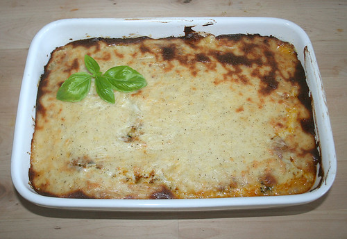 43 - Cannelloni mit Gemüse-Hack-Frischkäsefüllung - Fertig überbacken