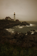 (eflon) Tags: ocean light lighthouse me portland landscape coast head cove maine rocky atlantic shore coastline