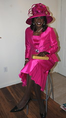 Fuschia Spring Suit Ensemble (darlene362538) Tags: cute beautiful pretty african transgender booty american transvestite crossdress transsexual