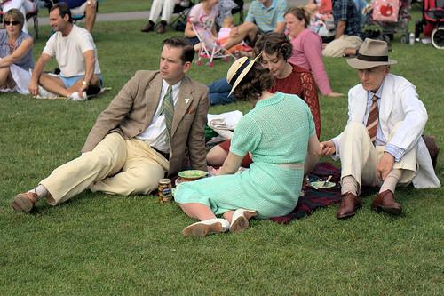 Folks in 1920s Dress