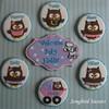 Owl Family (Songbird Sweets) Tags: owls sugarcookies newbaby songbirdsweets