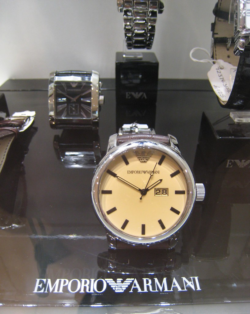IMG 0031 Emporio Armani wristwatch. House of Fraser
