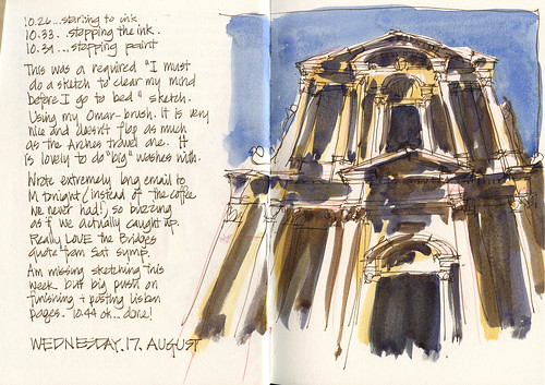 110817 Late night Baroque sketch-mid week! by borromini bear