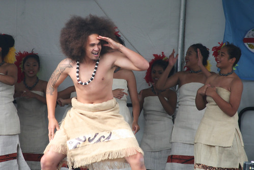 Male Polynesian Folk Dancer