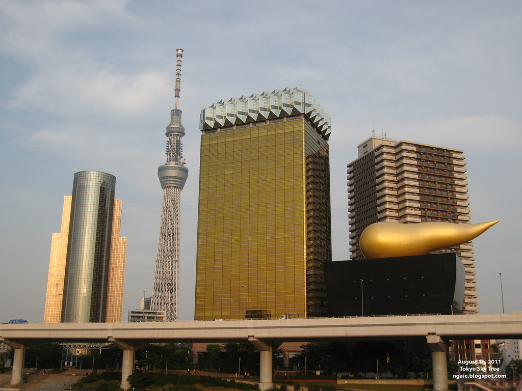 Tokyo Sky Tree and the Asahi Beer Buildings