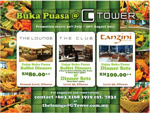promotion buffet GTower