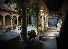 (fusion-of-horizons) Tags: light church monument stone architecture de photography photo arch fotografie photos arc style ivy courtyard patio explore architect monastery romania eastern orthodox convent