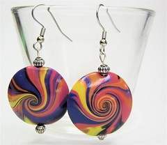 Spiral Earrings (ClayImages) Tags: jewelry polymerclay earrings swirlbeads