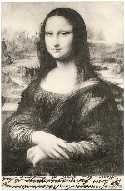 Mona Lisa_1911 Postcard_#1 image_sRGB_400