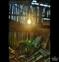 A Picker's Dream (J.L. Ramsaur Photography) Tags: windows sunset barn junk doors treasure rustic antiques sunrays screens lensflair useful cookevilletn greatfinds fadingamerica neatfind jlrphotography worldhdr americanpicker apickersdream