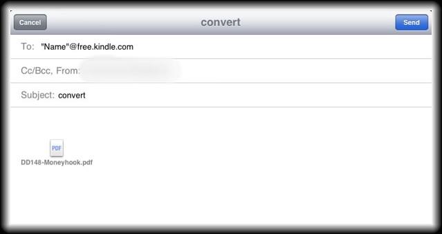 PDF per Email zum eigenen Kindle schicken