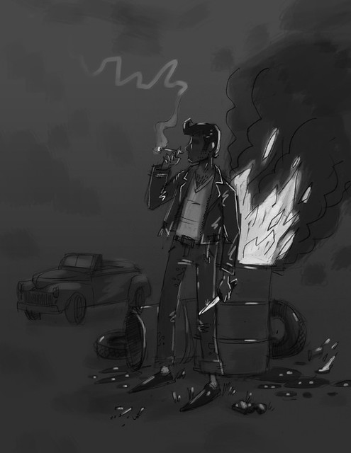 TenPaces_Grease_HajnySketch