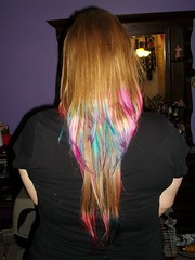 Back view (Maria Clarite) Tags: pink blue colors hair fun style tips dye layered cosmetology