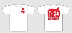 tee-shirt template - Red Arrow tribute (felt_tip_felon) Tags: hawk 4 jet airshow tribute template redarrows raf teeshirtdesign royalairforce redfour