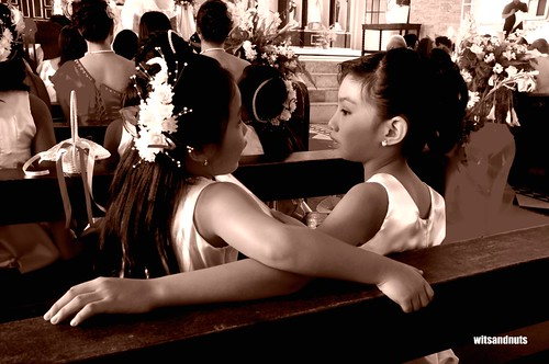 Flower girls in a wedding in Hinatuan