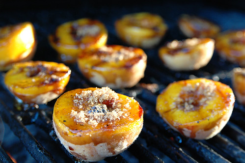 recipe: grilled peaches with balsamic vinegar and caramelized brown sugar. III.