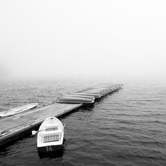 然別湖の桟橋