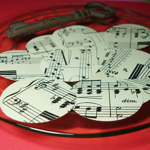 Antique Sheet Music Punches