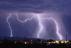 Blasts (dmguz) Tags: arizona rain night monsoon bolt strike lightning sierravista