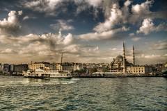 stanbul, Turkey (Nejdet Duzen) Tags: city trip travel sea cloud turkey boat trkiye istanbul mosque deniz sandal karaky bulut camii turkei yenicamii seyahat ehir saariysqualitypictures mygearandme ringexcellence