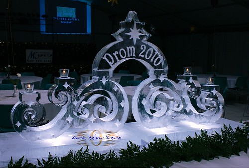 Swirl Prom  ice sculpture