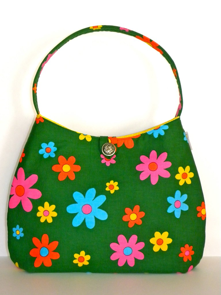 Vintage Fabric Hobo - Mod Cotton Daisies