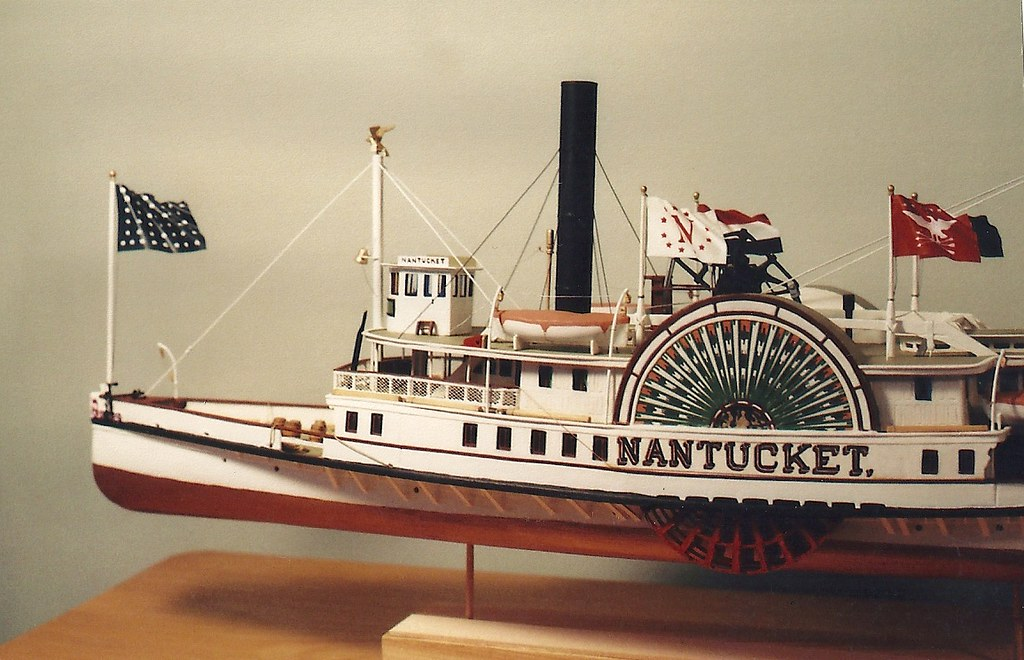 Steamboat NANTUCKET c.1895, Scale Model -Detail