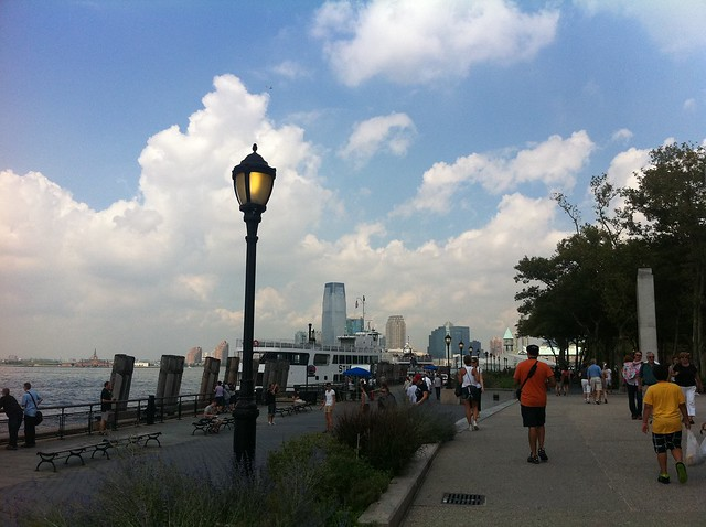 Battery Park, New York Harbor, Friday, August 26