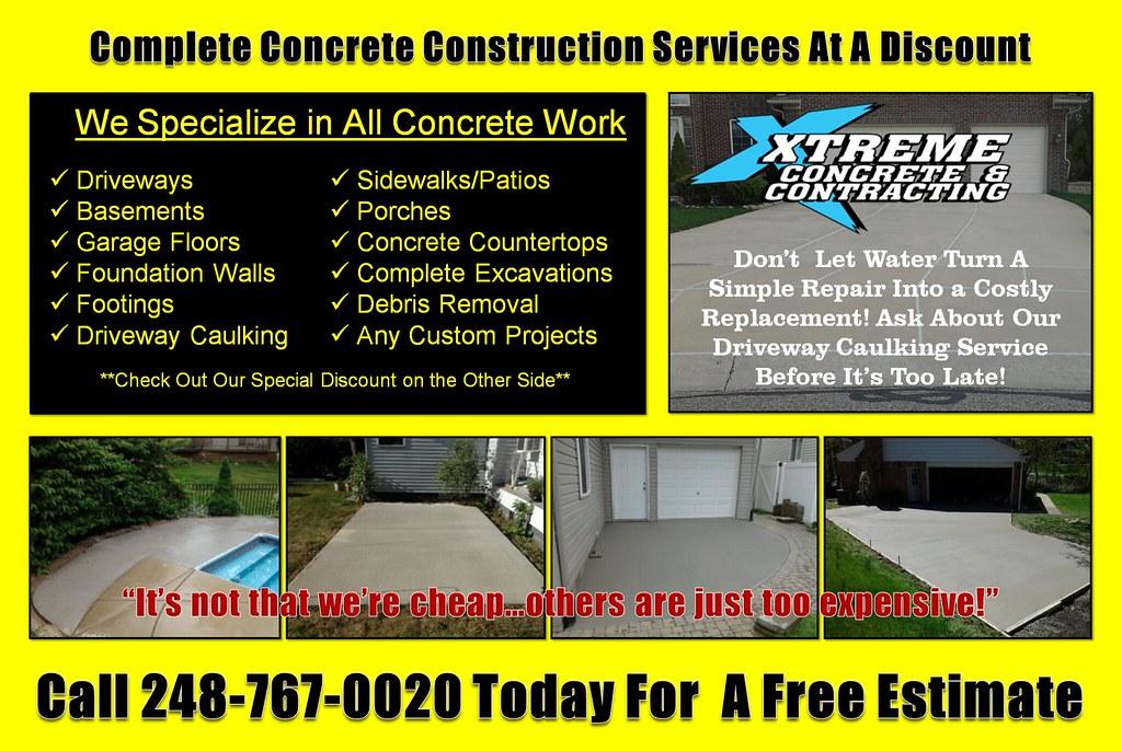 Oakland County Discount Concrete Driveway Repair Contractors Call 248-767-0020