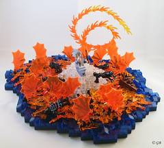 Horcrux Cave 10 (Lego.Skrytsson) Tags: fire fight lego zombie harry potter battle cave epic dumbledore halfbloodprince horcrux foitsop drinkofdespair