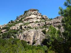 Col Sud de Punta di u Castellacciu : la face Sud après la descente