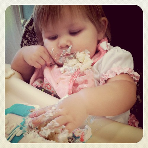 loving her some birthday cake!
