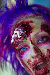 Purple Hair (Traveller_40) Tags: hair münchen de blood purple zombie lifestyle gore freizeit blut haar linse wunde zombiewalk horrorrshop