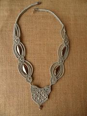 Girocollo Grigio con perle argento (patty macram) Tags: macrame collane gioielli girocollo macram macramgioielli macramcollane macramlavori macramcollier