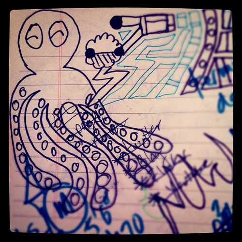octopi scribble #drawing #notes #ocean by eichg