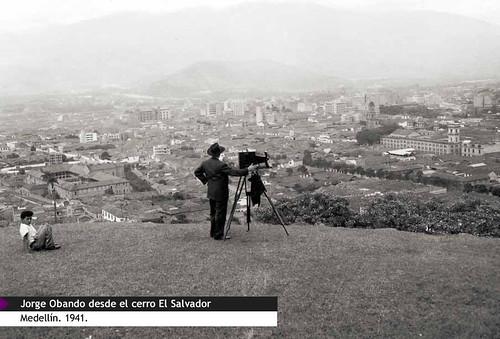 Jorge Obando desde el cerro El Salvador
