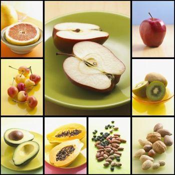 خلفيات أغذية صحية طازجة بجودة