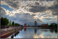quays3_1exp (The_Jon_M) Tags: uk england urban manchester salfordquays august salford quays hdr 2011 greatermanchester 1exp