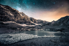 = Swiss Ice Sheet: Milky Way = (dmkdmkdmk) Tags: lake mountains alps ice night stars switzerland see nikon swiss glacier gletscher hdr milkyway milchstrasse klausen icesheet d700 imgries klausenim griesseegletschermilchstrasse