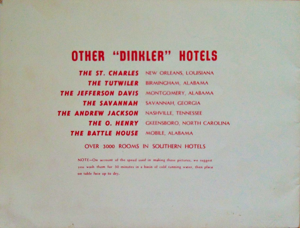 Back Cover Mystery Ansley Hotel, Atlanta Photograph
