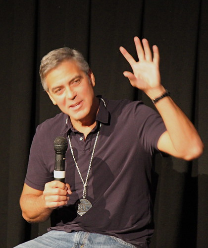 George Clooney hand