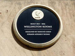 Photo of Edmund Aikin and Wellington Rooms black plaque