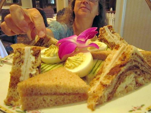 Delicious tea sandwiches