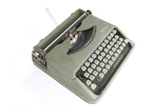 Halberg portable typewriter