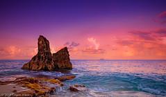 Sint Maarten Sunrise (jetrated) Tags: ocean blue seascape landscape saintmartin rocks purple magenta sxm sintmaarten cupecoy carnivalcruiselines cupecoybeach